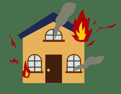 集団規定の火事