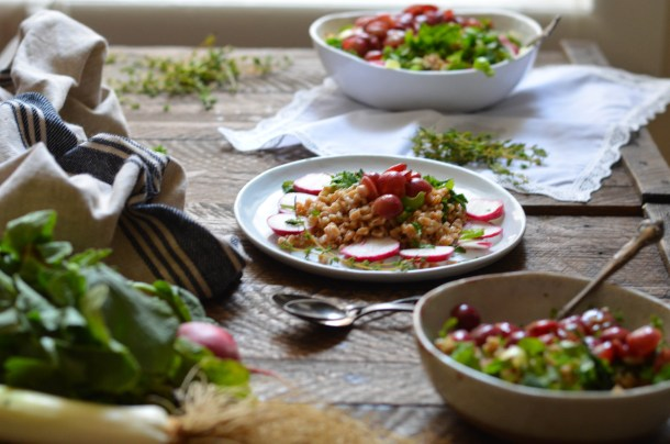 Farro Salad Window- What's Cooking_