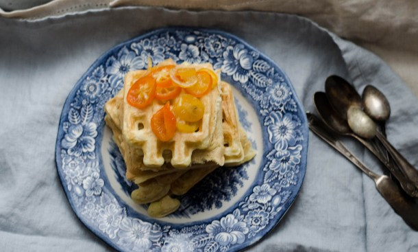 Fluffy Vanilla Citrus Waffles - What's Cooking_
