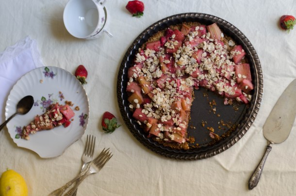 strawberry rhubarb tart1 - What's Cooking