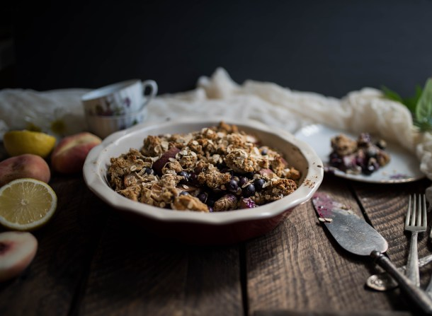 Peach Blueberry Crumble - What's Cooking-14