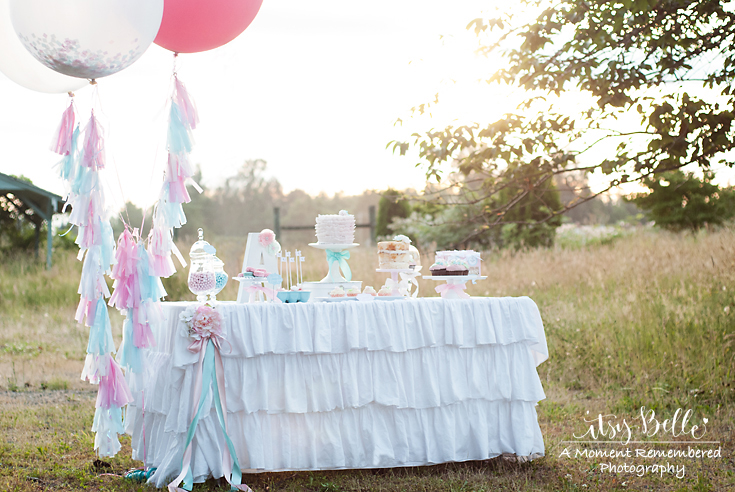 Little Lamb dessert table by Itsy Belle