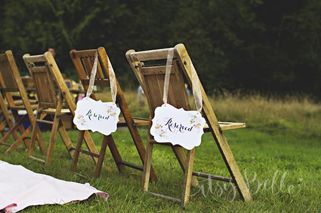Rustic Floral Wedding Suite Paper Signs Printables