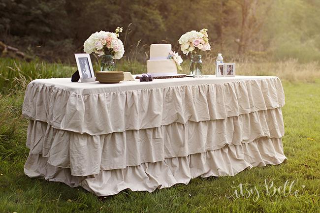 Burlap Ruffle Tablecloth