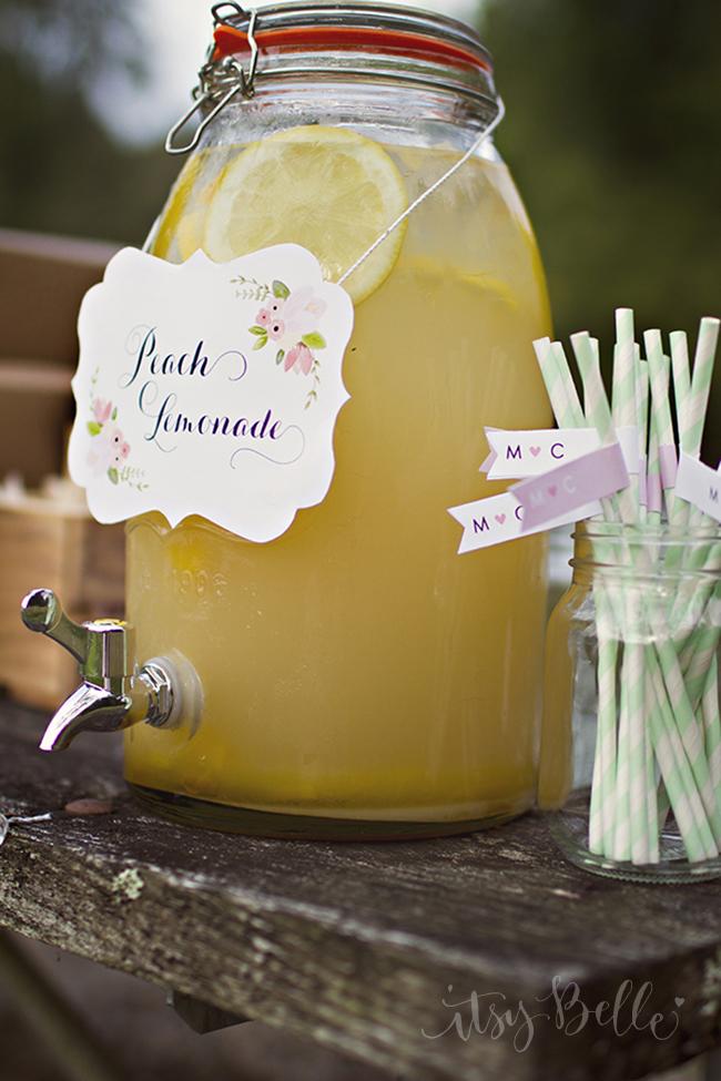 Peach Wedding Peach Lemonade