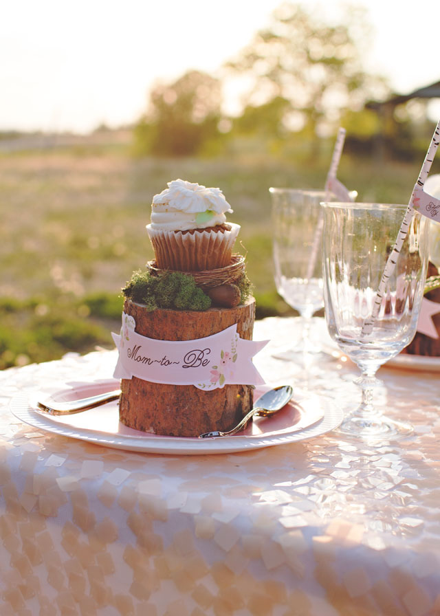 Rustic Baby Shower Table