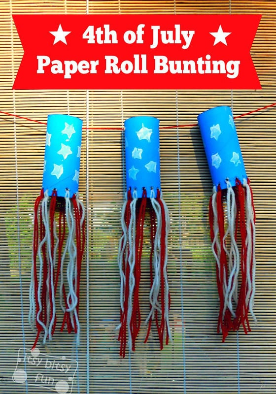 Toilet Paper Roll Craft Independence Day Bunting Itsy