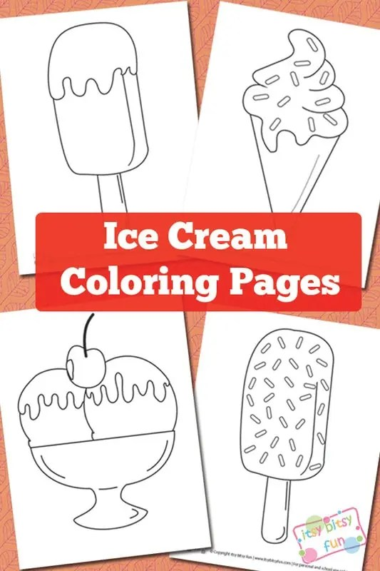 Ice Cream Coloring Pages Itsybitsyfun Com