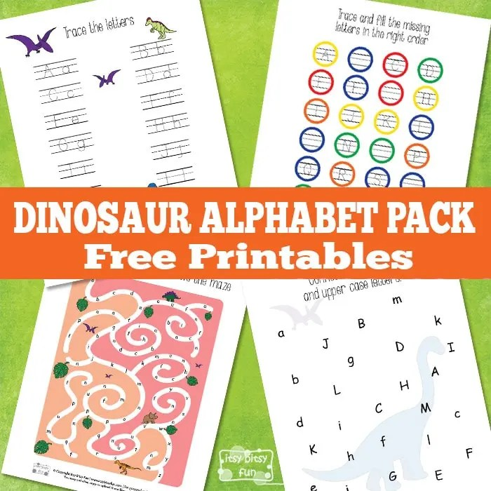 dinosaur alphabet worksheets