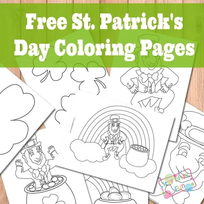 St Patrick S Day Coloring Pages Itsybitsyfun Com