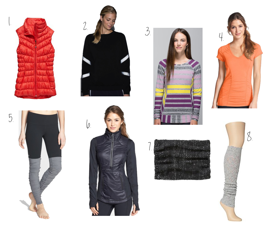 Fall:Winter workout clothes