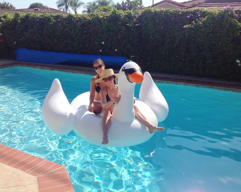 swan raft, itsy bitsy indulgences
