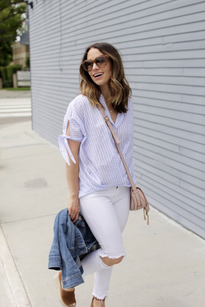 striped top, itsy bitsy indulgences