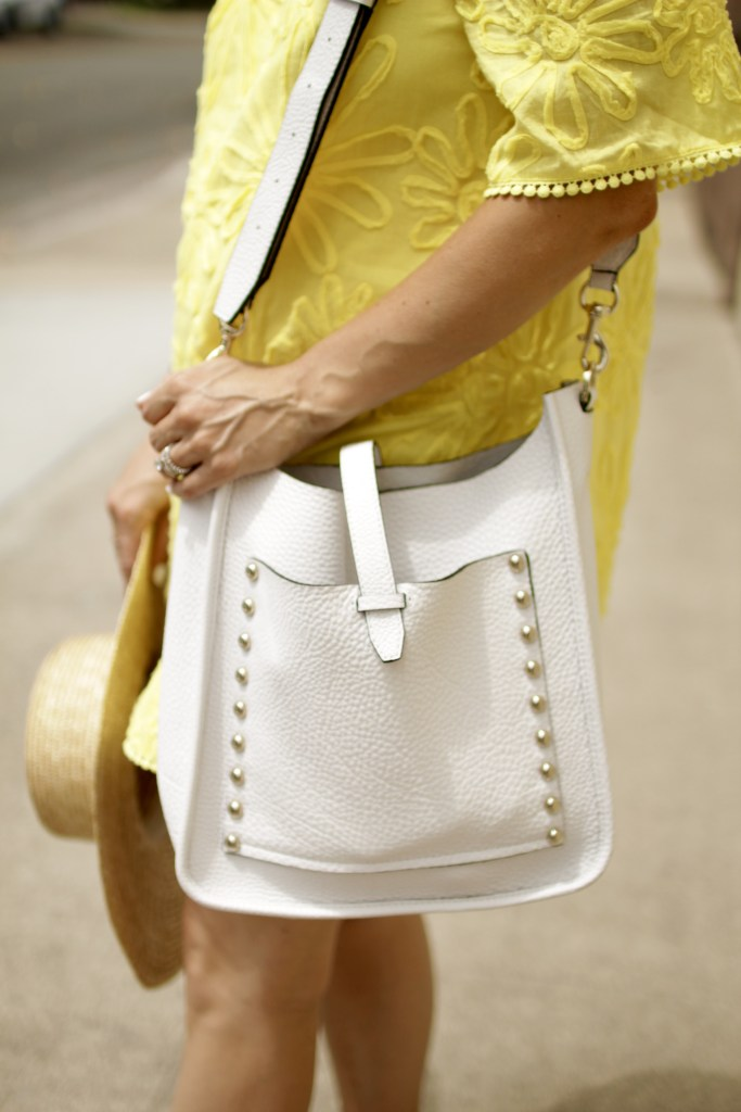 rebecca minkoff white bag, itsy bitsy indulgences
