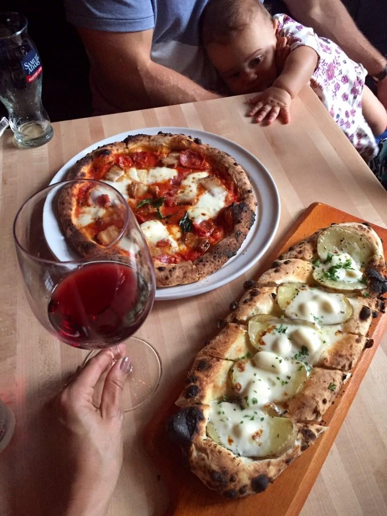 pizza + pinot, itsy bitsy indulgences