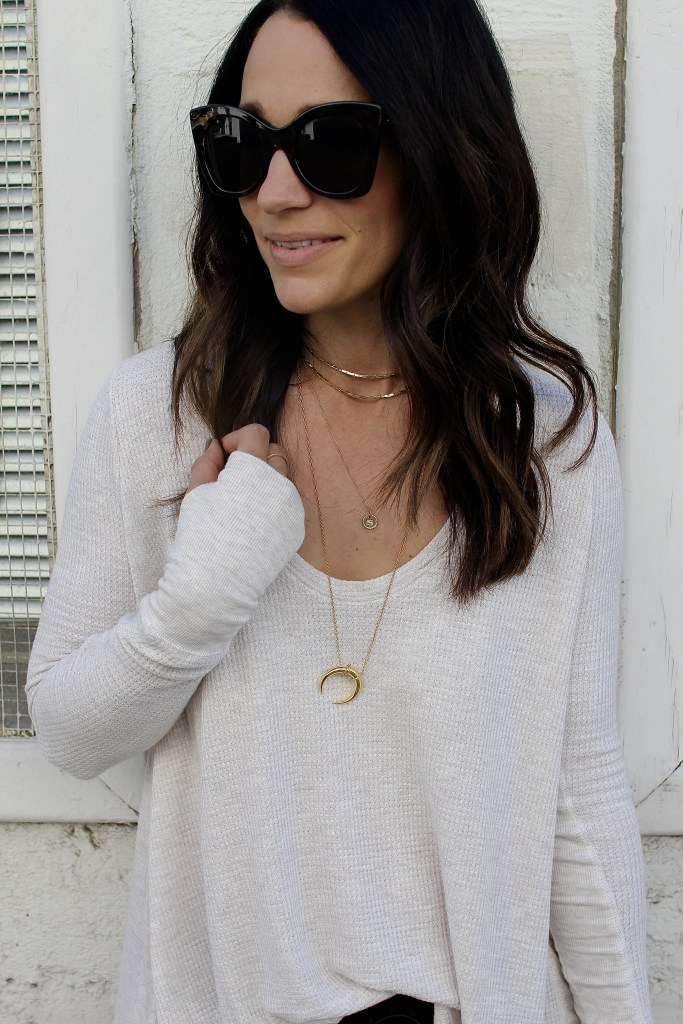 layered gold necklaces, itsy bitsy indulgences