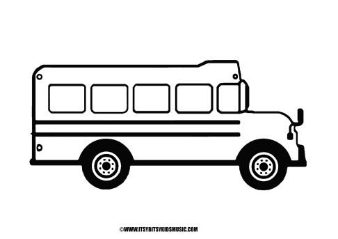Schoolbus Picture to Color for Preschoolers