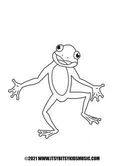coloring page dancing frog in pdf for free