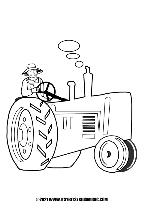 coloring page old macdonalds tractor in pdf for free