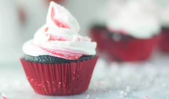 Super-Chocolatey Chocolate Cupcakes with Peppermint Buttercream