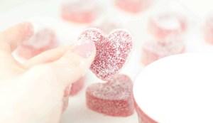 Gummy candies with sour sugar