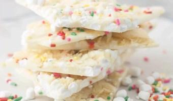 Marshmallow Bit-Potato Chip White Chocolate Bark