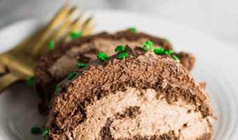 Irish Coffee Chocolate Cake Roll