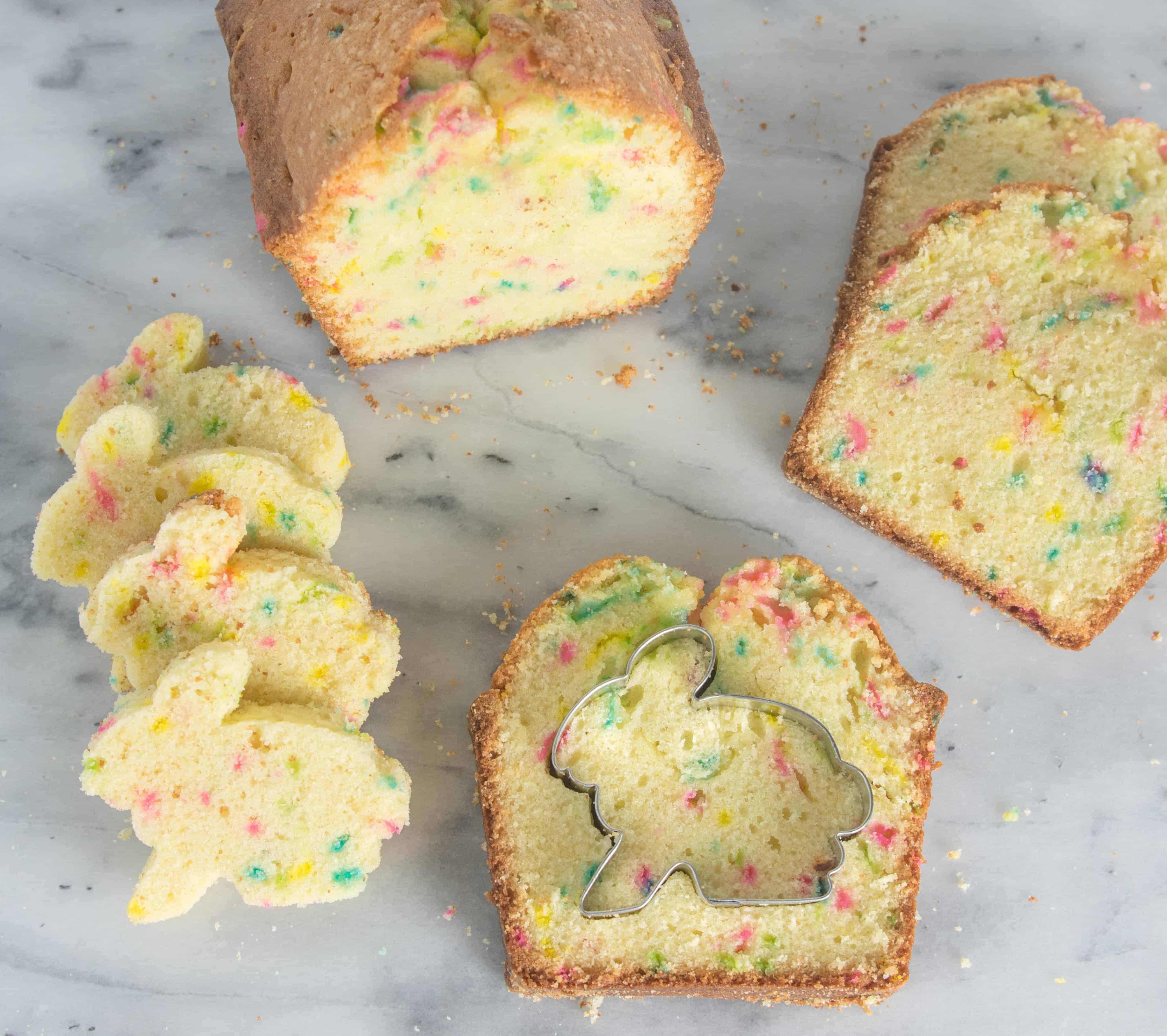 Chocolate Funfetti Hidden Bunny Cake - The Itsy-Bitsy Kitchen
