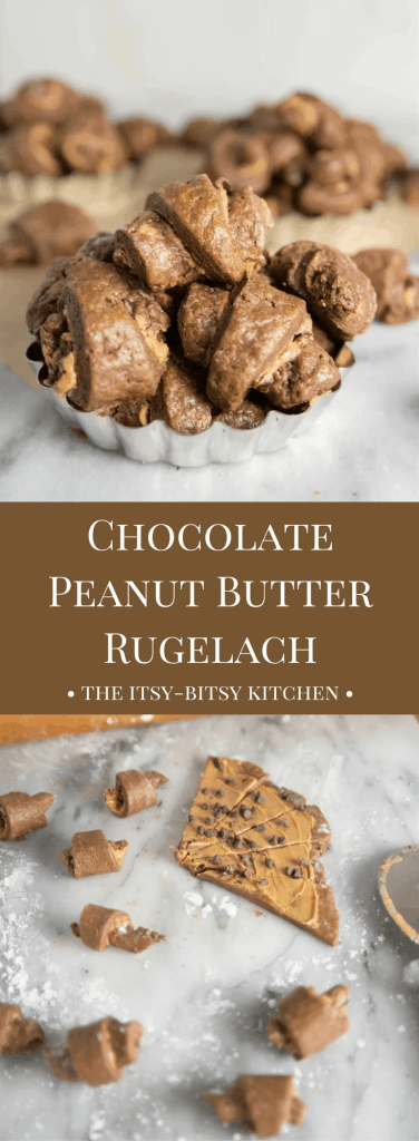 Chocolate peanut butter rugelach are one part cookie, one part pastry, all parts DELICIOUS! And they're not too difficult to make either!