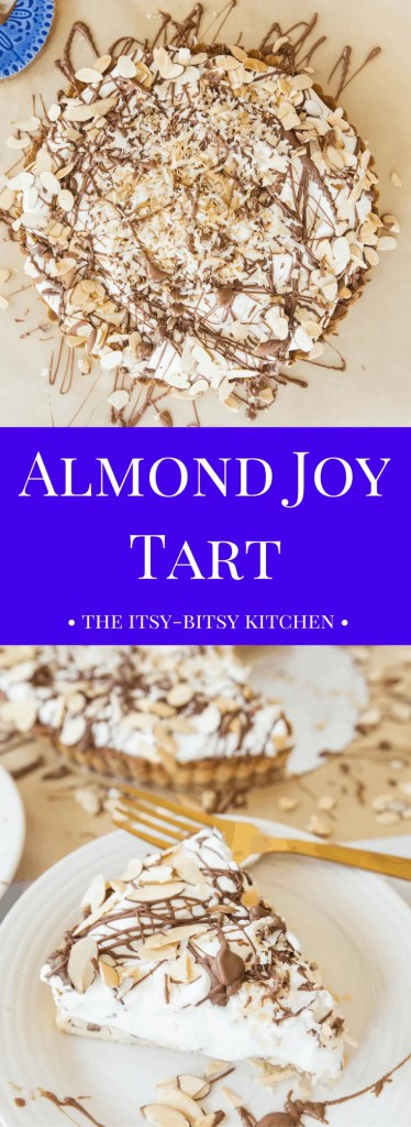 Calling all coconut lovers! This almond joy tart is the creamy coconut dessert of your dreams!