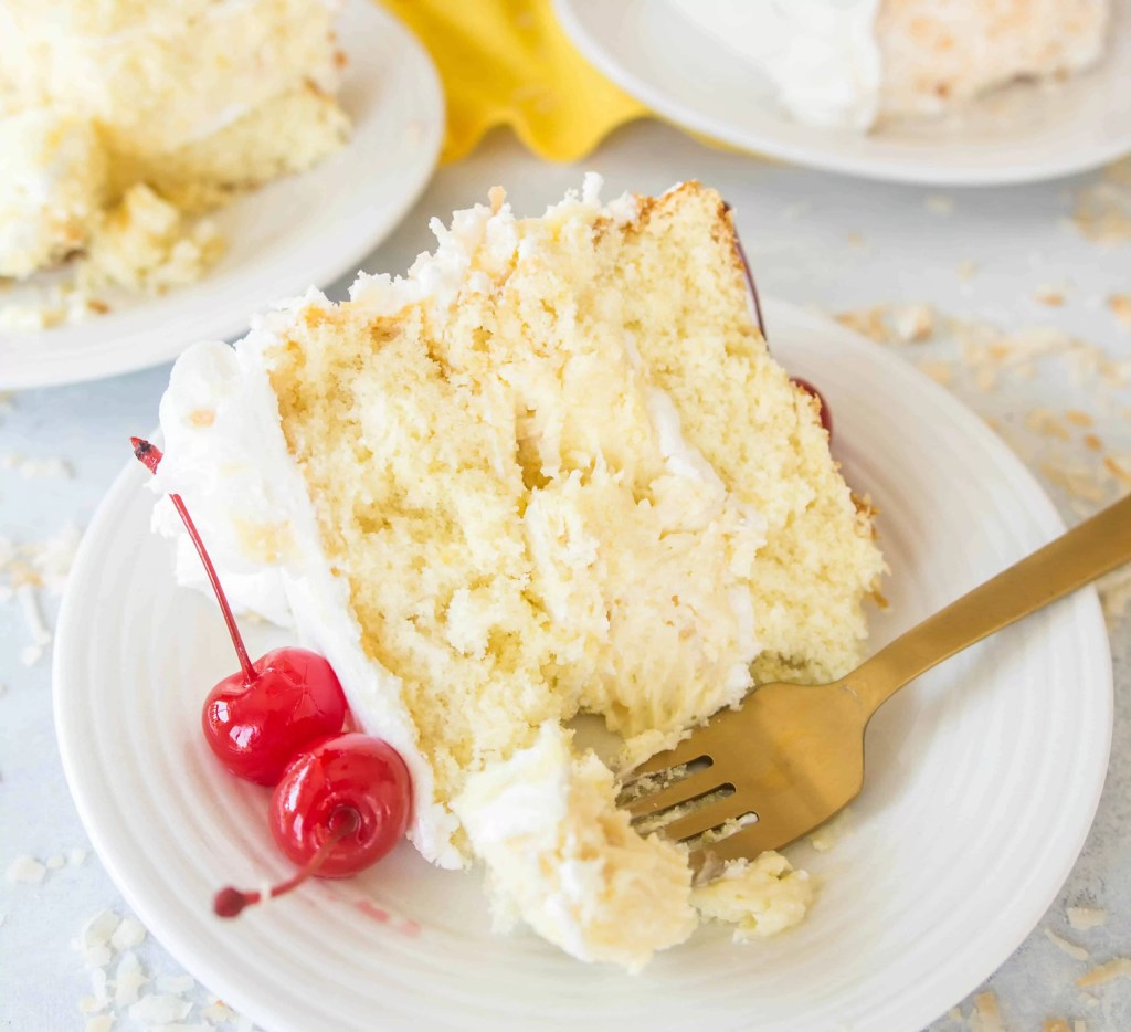 An umbrella drink in cake form, this piña colada cheesecake cake is a show-stopping summer dessert.