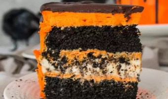 Black Velvet Cookies 'n Cream Cheesecake Cake