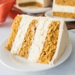 Pumpkin cheesecake layer cake with caramel frosting is a show-stopping Thanksgiving dessert, and delicious all season long. #Thanksgiving #pumpkin #cheesecake