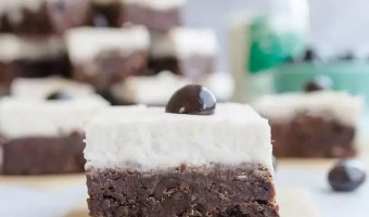 Irish Cream Espresso Bean Brownies