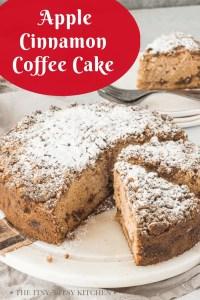 pinterest image for apple coffee cake
