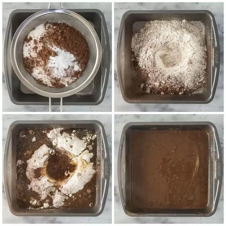 how to make chocolate dump cake step by step