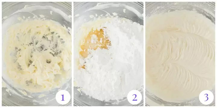 boozy cream cheese frosting step by step