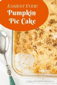 Pinterest image for pumpkin pie cake
