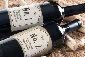 personalised wine label for weddings - Table number classy design