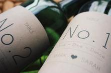 Personalised wine label for Weddings - Table numbers