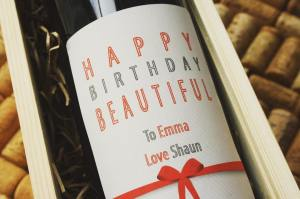 personalised wine label for birthdays