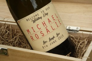 Retro Wedding Wine - Personalised wine labels