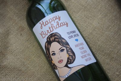 Happy Birthday Classy - Personalised Wine