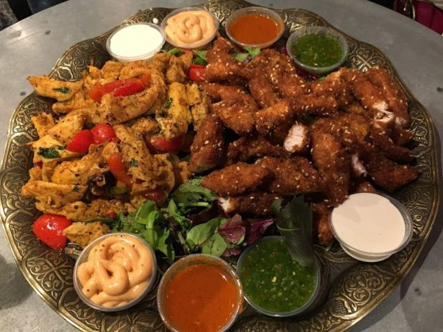 Barraka - Tasting plate of chicken and dips