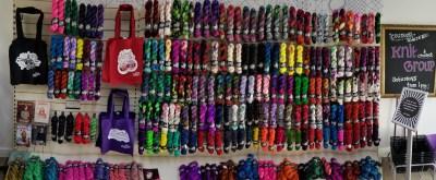 sock yarn wall
