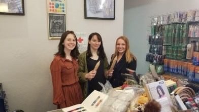 The ladies in McAree Brothers in Edinburgh! They loved the BigStix™!