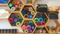 Honeycomb of yarn cakes!