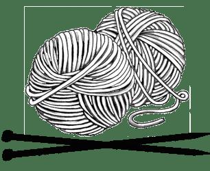 it takes balls to knit!