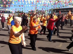 Members of all ages, from all over the Taoist Tai Chi world, joined in with the festivities