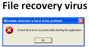 Virus removal tool for file recovery virus
